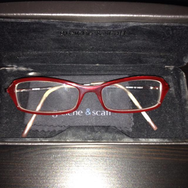 Red Eye Glass Frame From Greiche And Scaff
