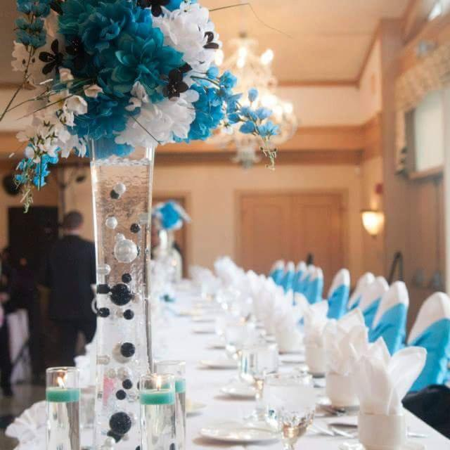 Find More Silk Floral Wedding Center Pieces With Glass Vases Beads