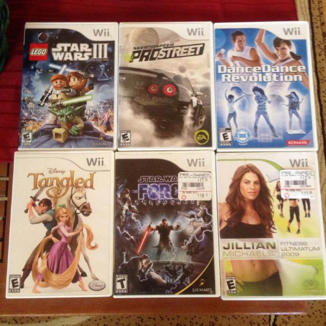 Wii Games 1000 Each Except Lego Star Wars 1500