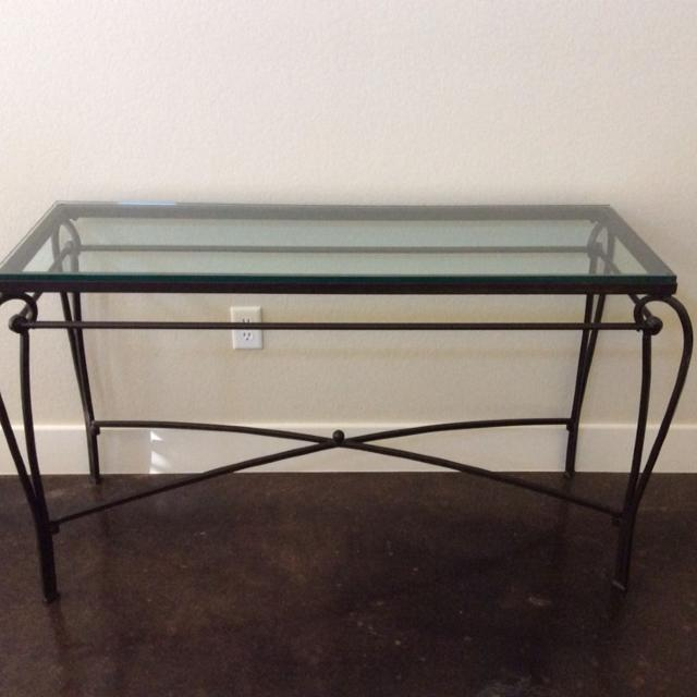 Best Pier One Wrought Iron Glass Table For Sale In New Braunfels