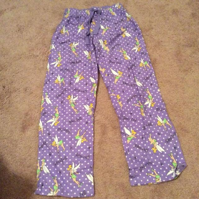 Find More Disney Tinkerbell Flannel Pj Bottoms Purple With Tinker
