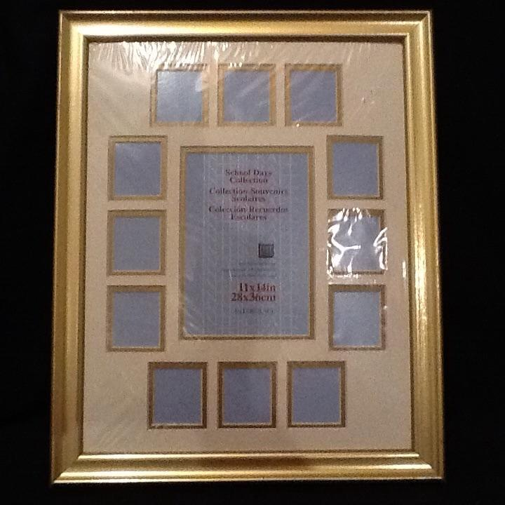 13985e5e7bf8 Best School Days Collage Picture Frame - Intercraft White   Gold Double Mat  In Gold Frame (11