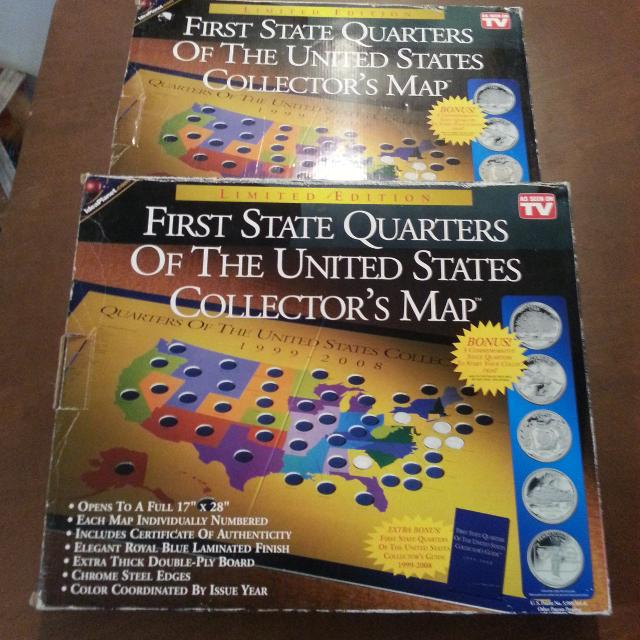 Best First State Quarters Of The Us Collectors Map For Sale In - First state quarters of the us collectors map