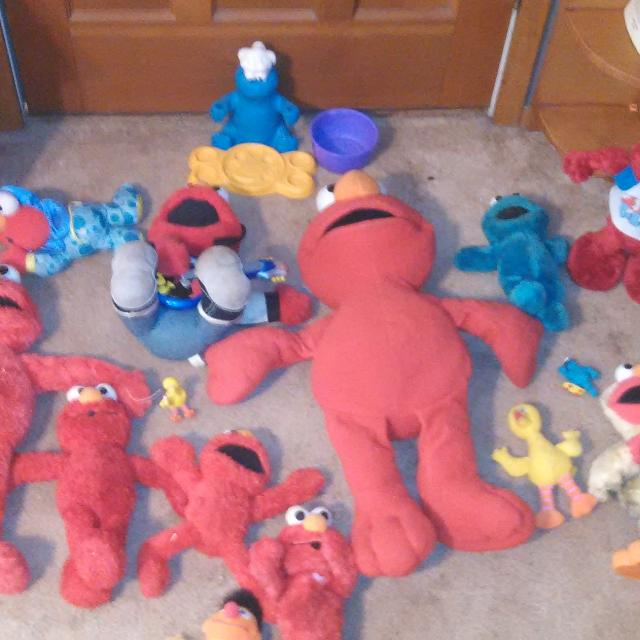 Best 17 Sesame Toys One Elmo Harness Rock And Roll Elmo Two