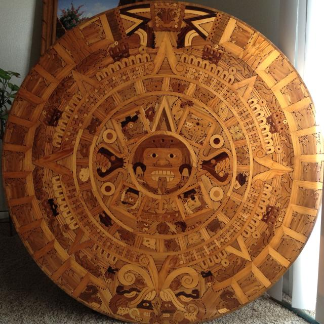 Selling Wall Hanging Aztec Calendar All Made Of Wood