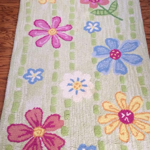 Pottery Barn Kids Daisy Garden 100 Wool Rug 3x5 Great Condition Price