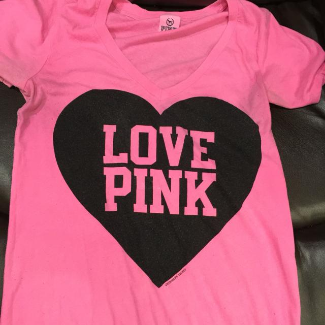 867f1a8f3272b Victoria's Secret hot pink t shirt, in size small (more clothes including  other vs stuff on my page)