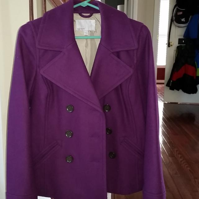 Find more Women's Deep Purple/plum Wool Pea Coat for sale at up to ...