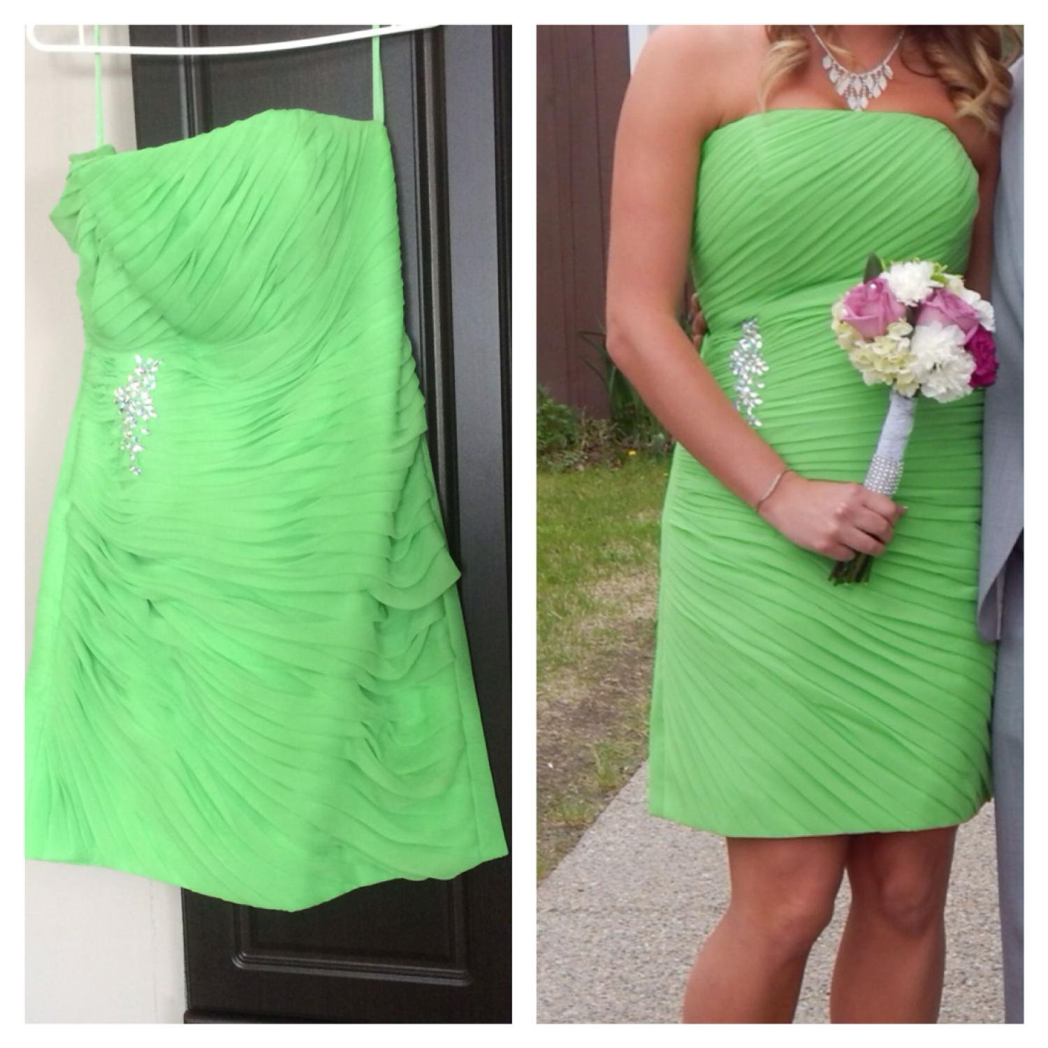 Best bright green impressions bridal dress for sale in for Off the rack wedding dresses near me