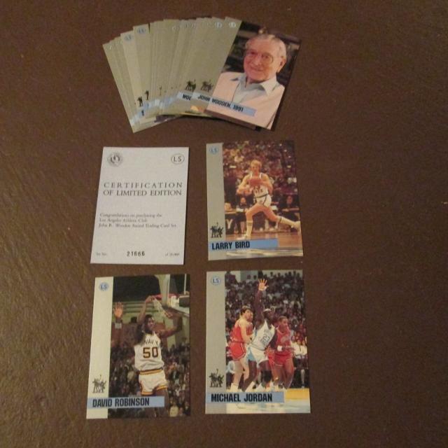 1991 John R Wooden Award Basketball Card Set