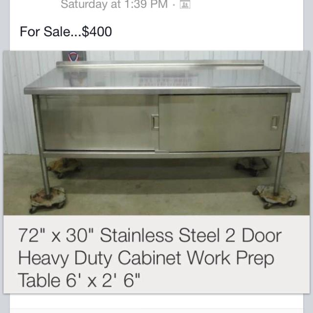 Best Price Reduced Ft X Ft Stainless Steel Work Table - 6ft stainless steel table
