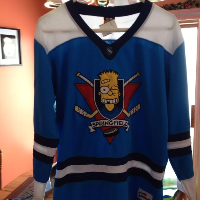 Best Simpsons Official Springfield Hockey Jersey Size Adult Small Youth Xl  Mint Shape Like New Paid  45 With Tax And Shipping Asking  25 for sale in  ... a8d648ca9