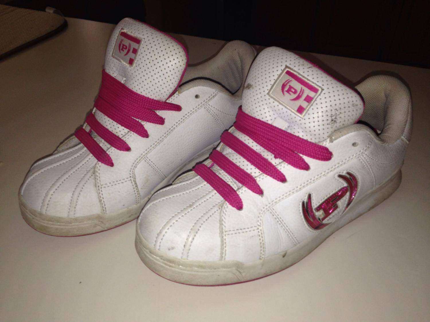 Find more Womens Size 8.5 Pink white Baby Phat Tennis Shoes for sale ... 38117577d