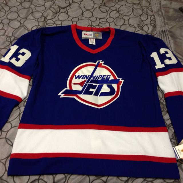 official photos 51f15 587a3 Teemu Selanne Vintage Jets Jersey