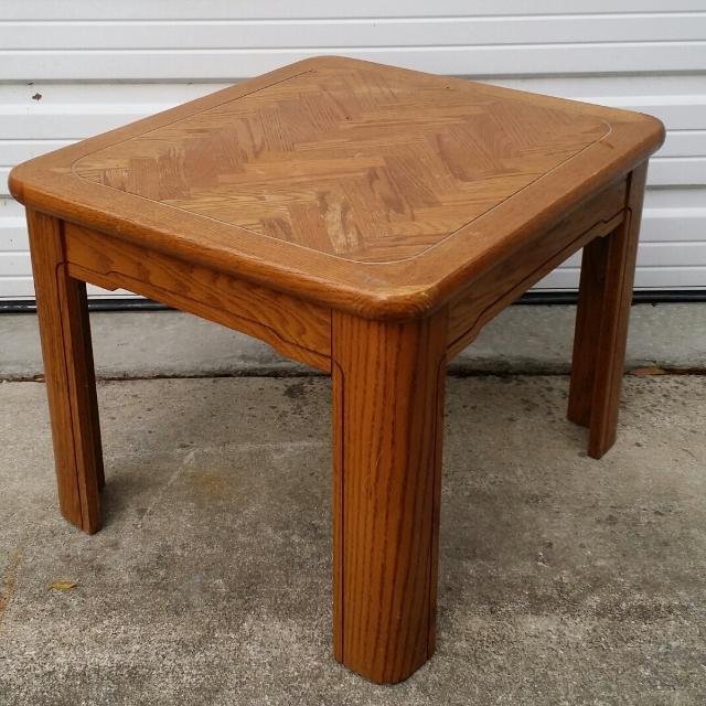 Solid Wood Coffee And End Tables For Sale: Find More 80's Solid Wood End Table For Sale At Up To 90% Off