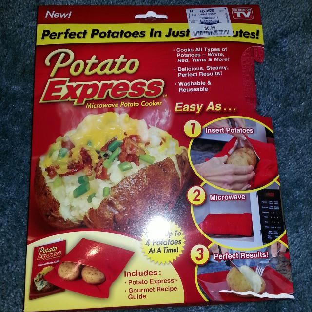 Microwave Potato Cooker New As Seen On Tv Will Meet