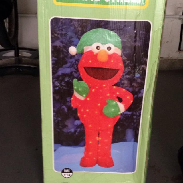 Best 5 Foot Light Up Elmo Christmas Decoration, Only Used One Winter. Asking $70 for sale in Irvine, California for 2019