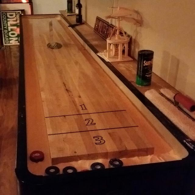 Best Price Reduced Firm Foot Shuffle Board Table With - 12 foot shuffleboard table for sale