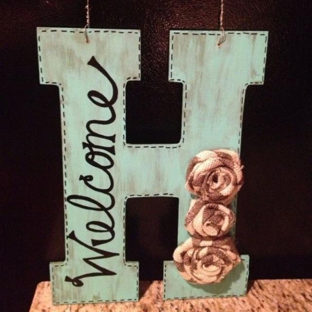 Large Distressed Wooden Letters Zef Jam