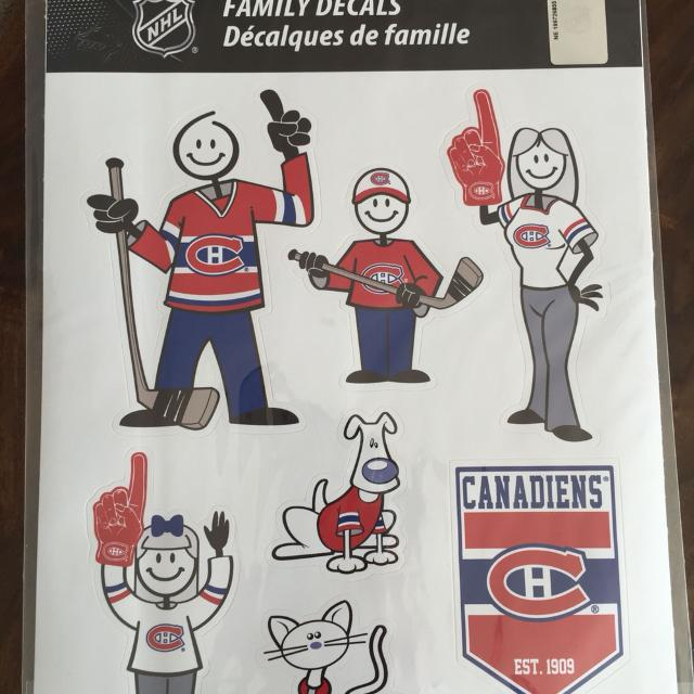 Nhl car decals montreal canadiens family sticker be ready for the series price