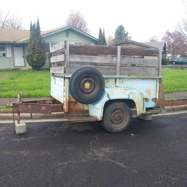 find more old ford truck bed turned into trailer for sale at up to 90 off. Black Bedroom Furniture Sets. Home Design Ideas