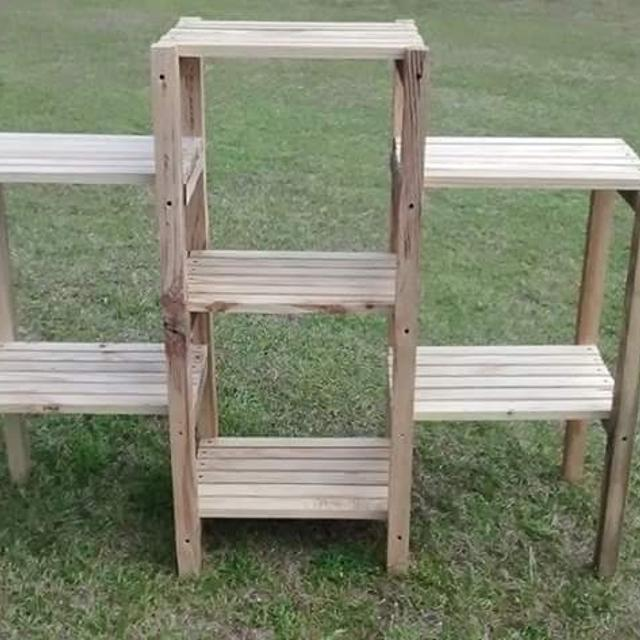Best Wood Indoor Outdoor Plant Stand For Sale In Sumter South