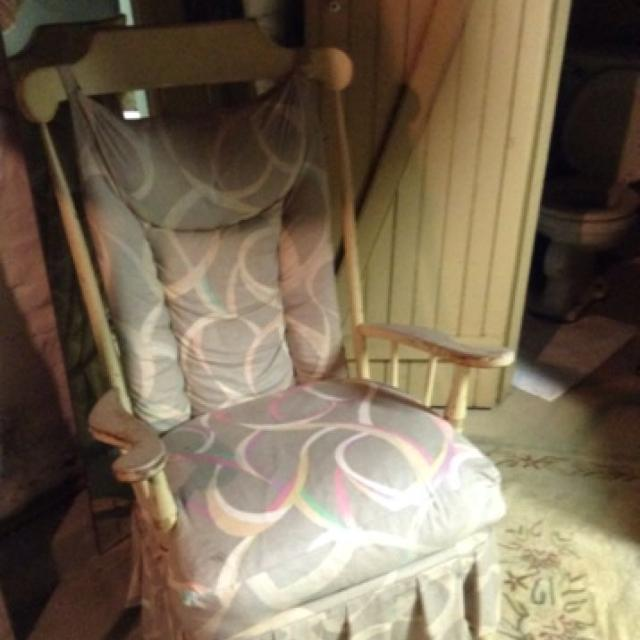 Best Price Reduction Shabby Chic Rocking Chair Antique Finish All