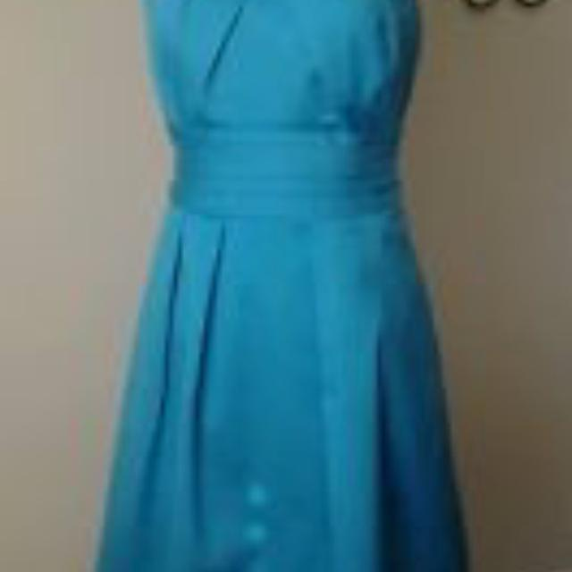 Malibu Blue David S Bridal Bridesmaid Dress