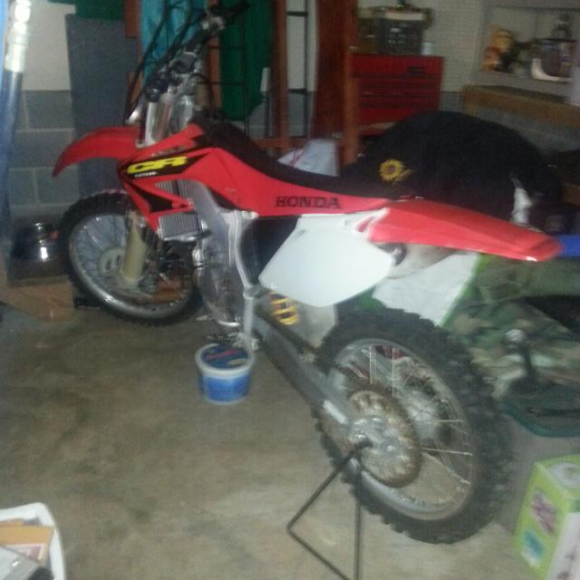 Honda CR 125 dirt bike, 2-stroke with upgrades, excellent condition