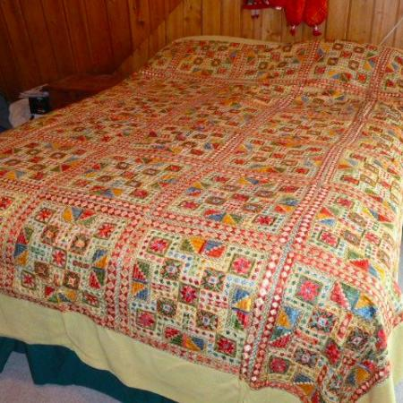 NEW Hand-embroidered Queen Bedspread, used for sale  Canada