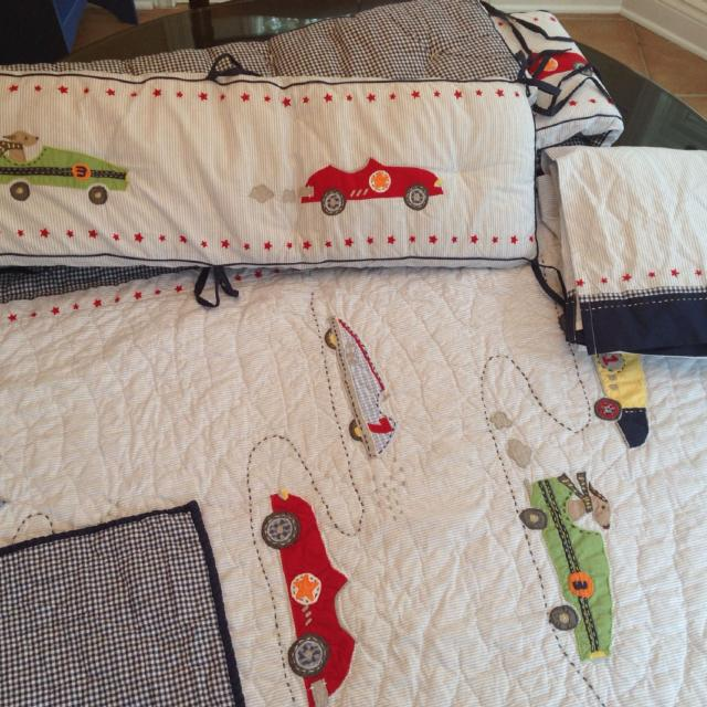 Find More Pottery Barn Roadster Race Car Baby Boy Crib