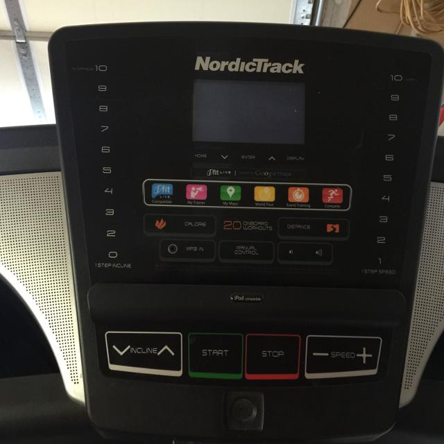 NordicTrack T 5 7 ipod ready, ifit ready , google maps interactable  It  inclines and folds up for easy storage with wheels