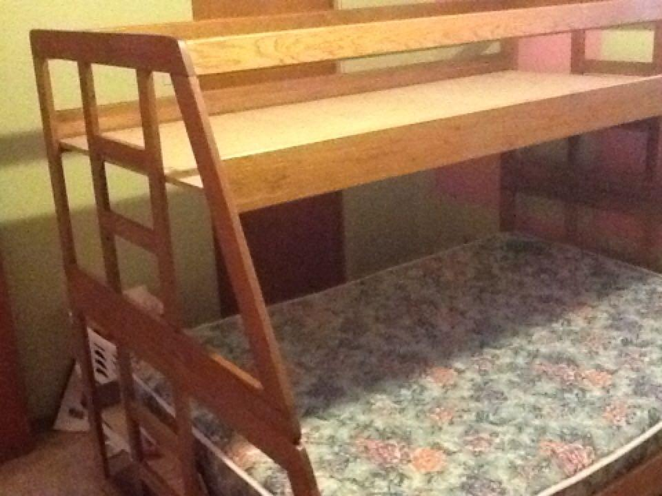 Best Price Reduced Single Over Double Wooden Bunk Bed Comes With