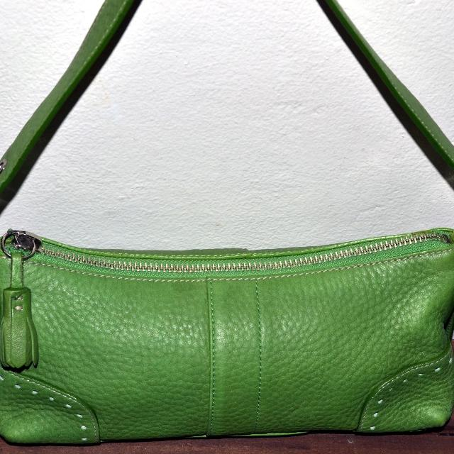 9666dd76a9 Best  reduced  Authentic Coach Green Pebble Leather Shoulder Handbag for  sale in Gilbert