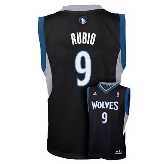 sports shoes f9b26 85b29 Adidas nba jersey Minnesota timberwolves number 9 Ricky Rubio.