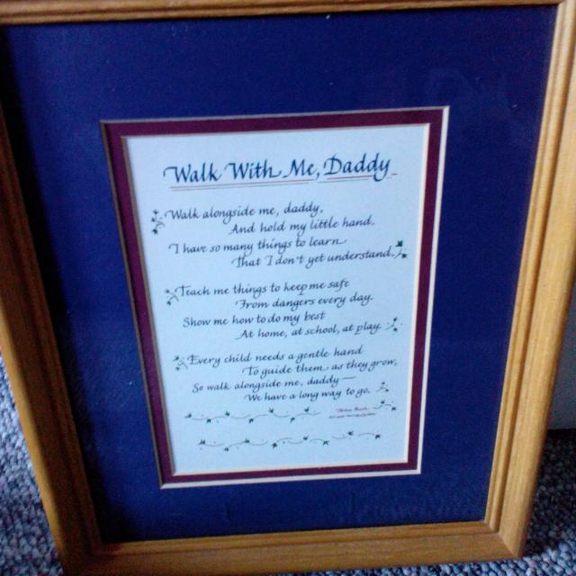 Find More Walk With Daddy Poem In A Frame For Sale At Up To 90 Off