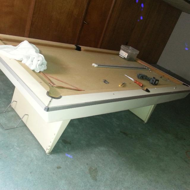 Find More Slate Pool Table Free Needs To Be Refelted For - Pool table help