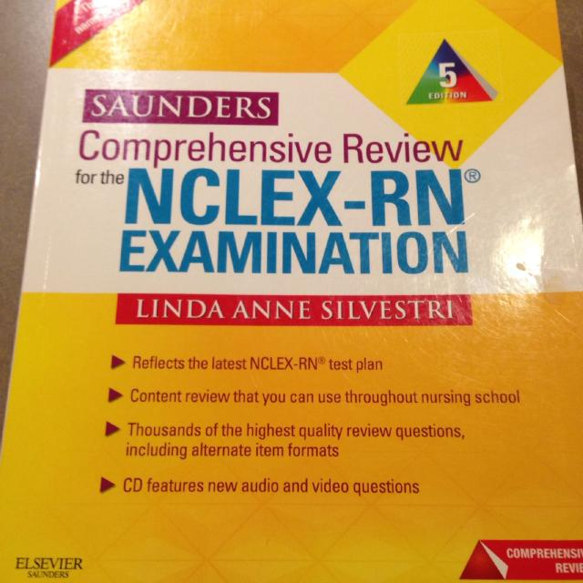 Saunders NCLEX Review book with CD