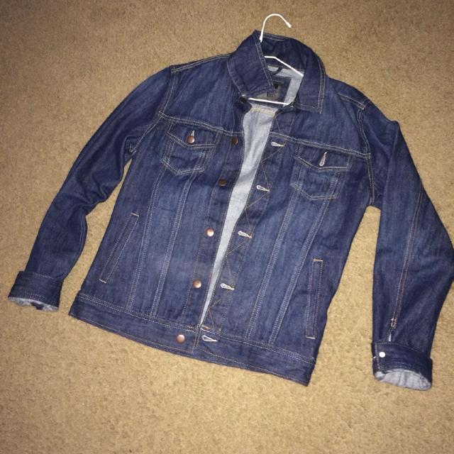 best forever 21 mens jean jacket size xs fits like a small measures