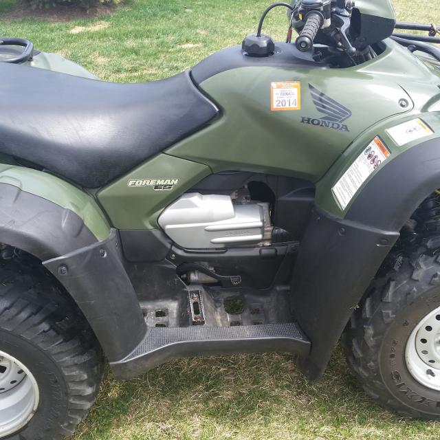 2006 Honda Foreman 500 ES 4x4  Includes warn winch, Moose plow and aluminum  loading ramps