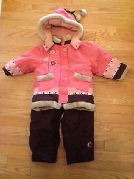 6850d6582 Best Kids Peluche Et Tartine (pink brown) Snowsuit Girls