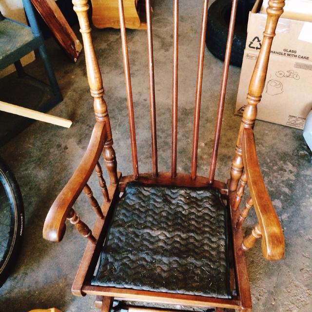 Tell City Glider/Rocker (Antique, Sturdy, Great Condition, No Cushion) - Find More Tell City Glider/rocker (antique, Sturdy, Great Condition