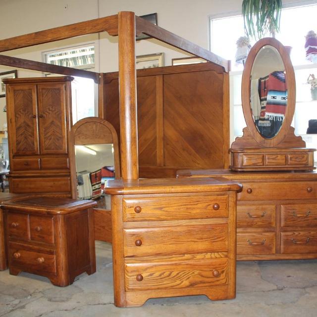 Best Burlington Oak King Bedroom Set For Sale In Visalia