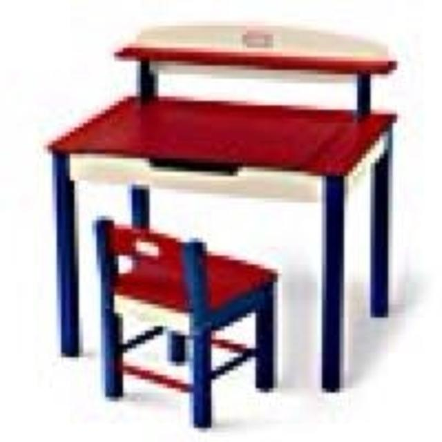 Find More Good Used Little Tikes Wooden Lift Top Desk With Matching
