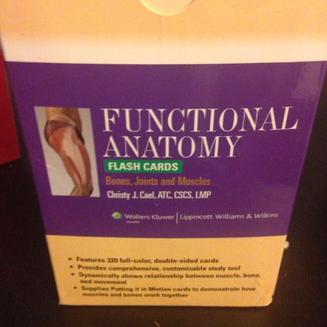 Best Functional Anatomy Flash Cards For Sale In Murrieta California