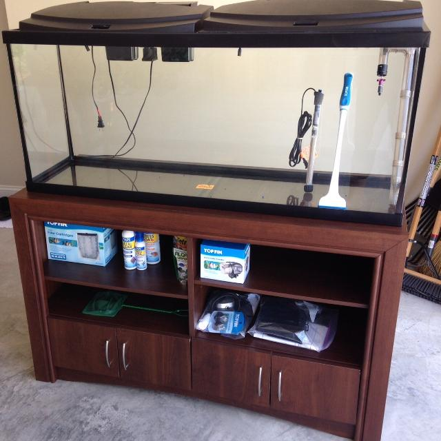 Best Top Fin 55 Gallon Aquarium And Wood Stand 245 Obo For Sale In Hahira Georgia For 2020