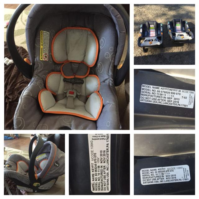 Chicco Keyfit Infant Car Seat 2 Bases