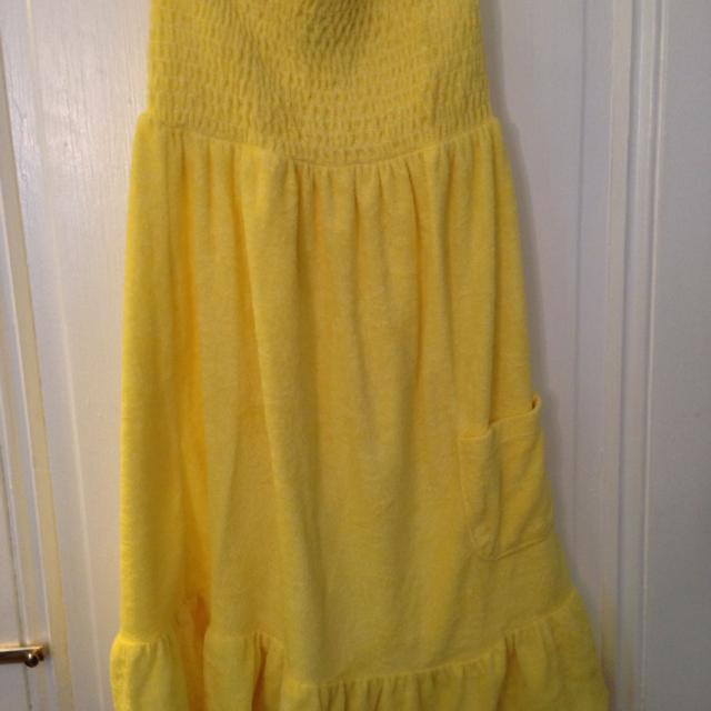 e5ce3b9bdb Find more Cute Yellow Terry Cloth Strapless Dress/bathing Suit Cover ...
