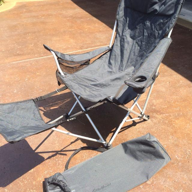 fc527696c5e Find more Eddie Bauer Folding Chair With Foot Rest for sale at up to ...