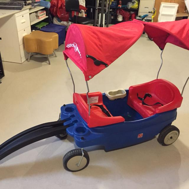 Find More Euc Step 2 Wagon With Seat Belts And Detachable Canopy
